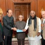 Congress leaders meet President Pranab Mukherjee, Delegation against Modi Government, President Rule, Track2Media Research